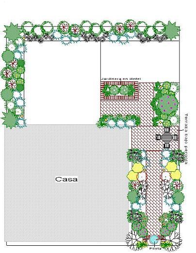 Plano jardin planos encantador pisos para jardin for Planos de jardines